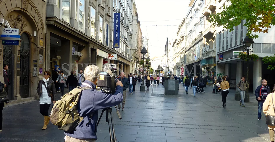 Filming in Belgrade, Serbia